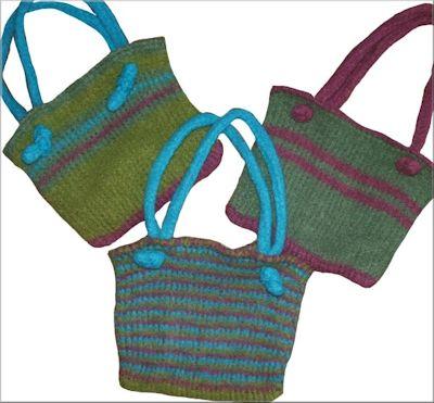 Crochet Purse Bag : CrochetKim Free Crochet Pattern Tunisian Easy Felted Bag