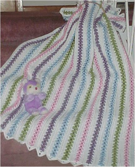 CrochetKim Free Crochet Pattern | Popcorn Pastels Throw @crochetkim